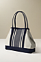 Ragtop Stripe Canvas Tote from Lands' End :  prep preppy purse snap
