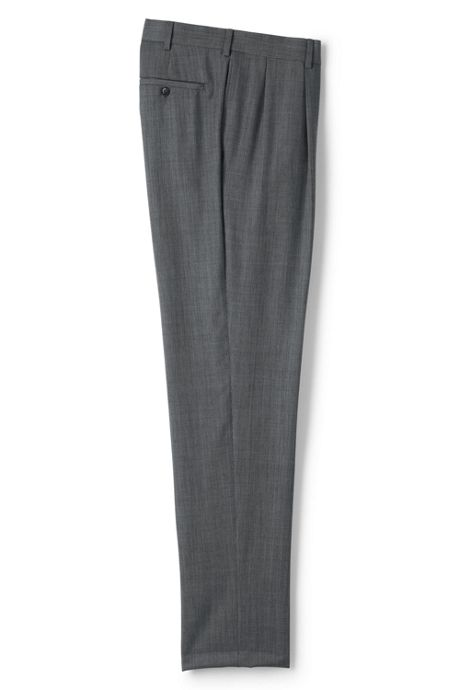 Men's Tailored Fit Pleat Wool Year'rounder Dress Trousers