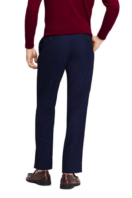 Men's Tailored Fit Pleated Year'rounder Wool Dress Pants
