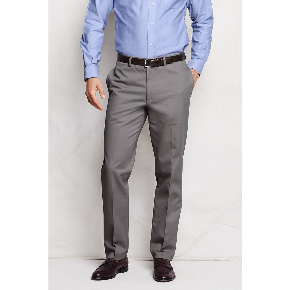 Lands' End Men's Plain Front Tailored Fit No Iron Chino Pants at Sears.com
