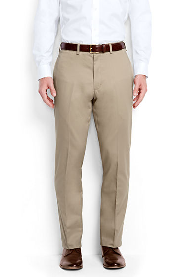 Mens Comfort Waist Everyday Chinos - 38 - BLUE Lands End IPwS1VLIc