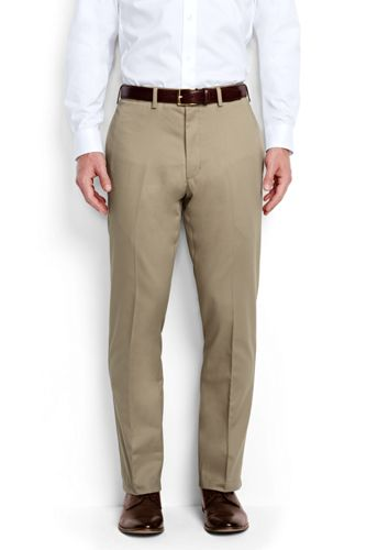 Mens Comfort Waist Everyday Chinos - 38 - BLUE Lands End