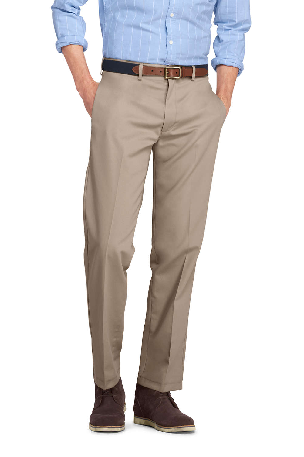 f5e874da4a6 Men S Tailored Fit No Iron Chinos From Lands End