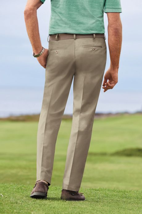 Men's Plain Front Tailored Fit No Iron Chino Pants