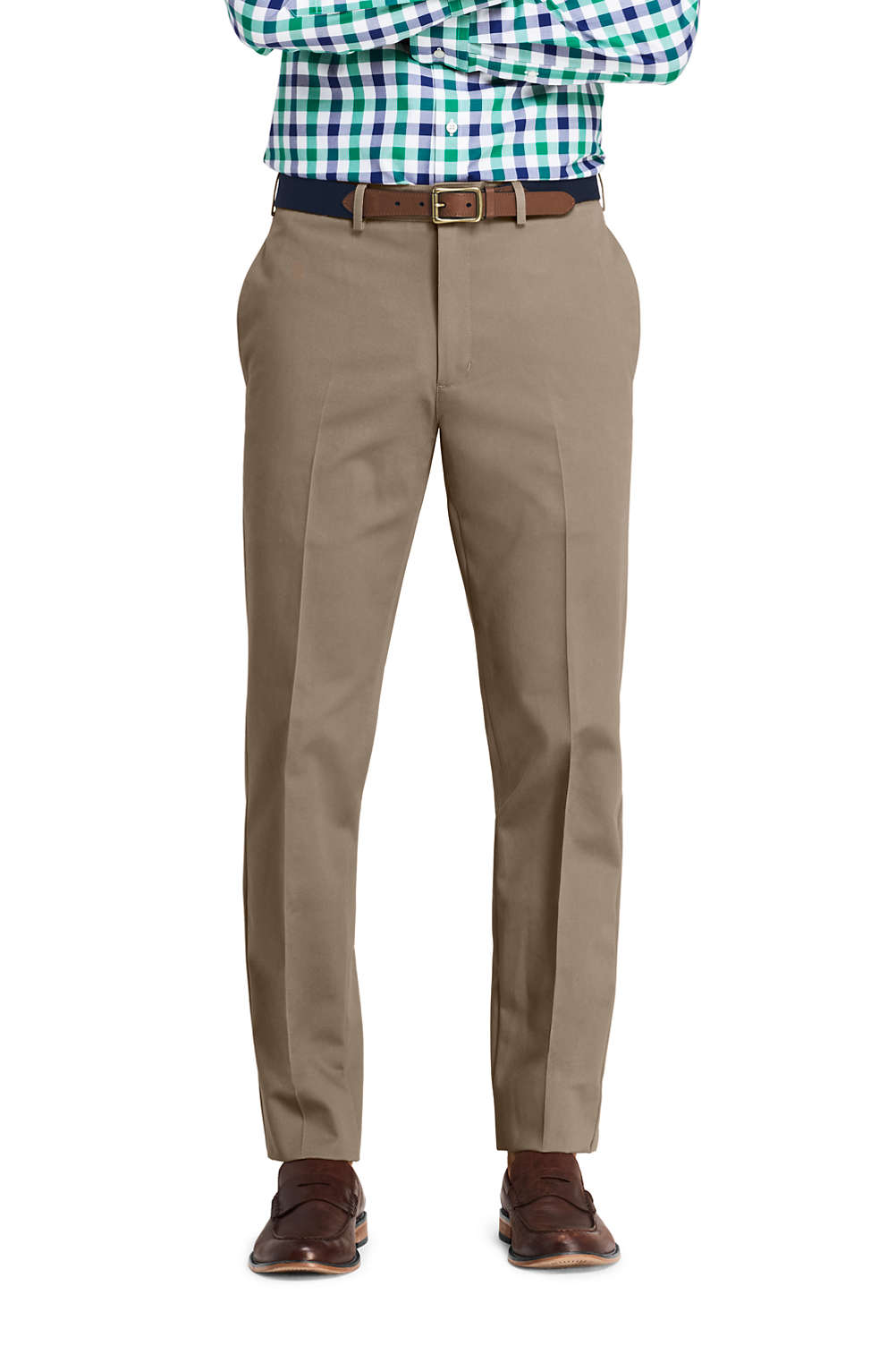 465796b1dbc Men s Plain Front Tailored Fit No Iron Chino Pants