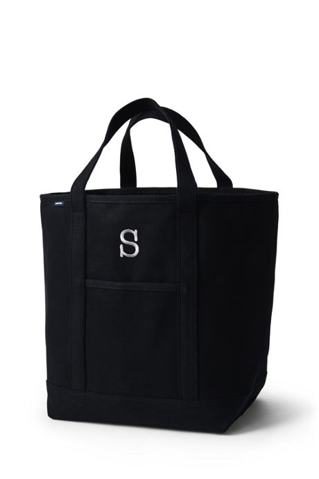 Large Solid Color Open Top Canvas Tote Bag