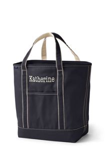 Solid Color Open Top Tote