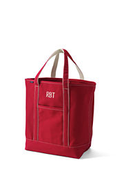 Large Colored Open Top Tote Bag