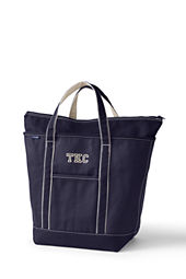 Large Colored Zip Top Tote Bag