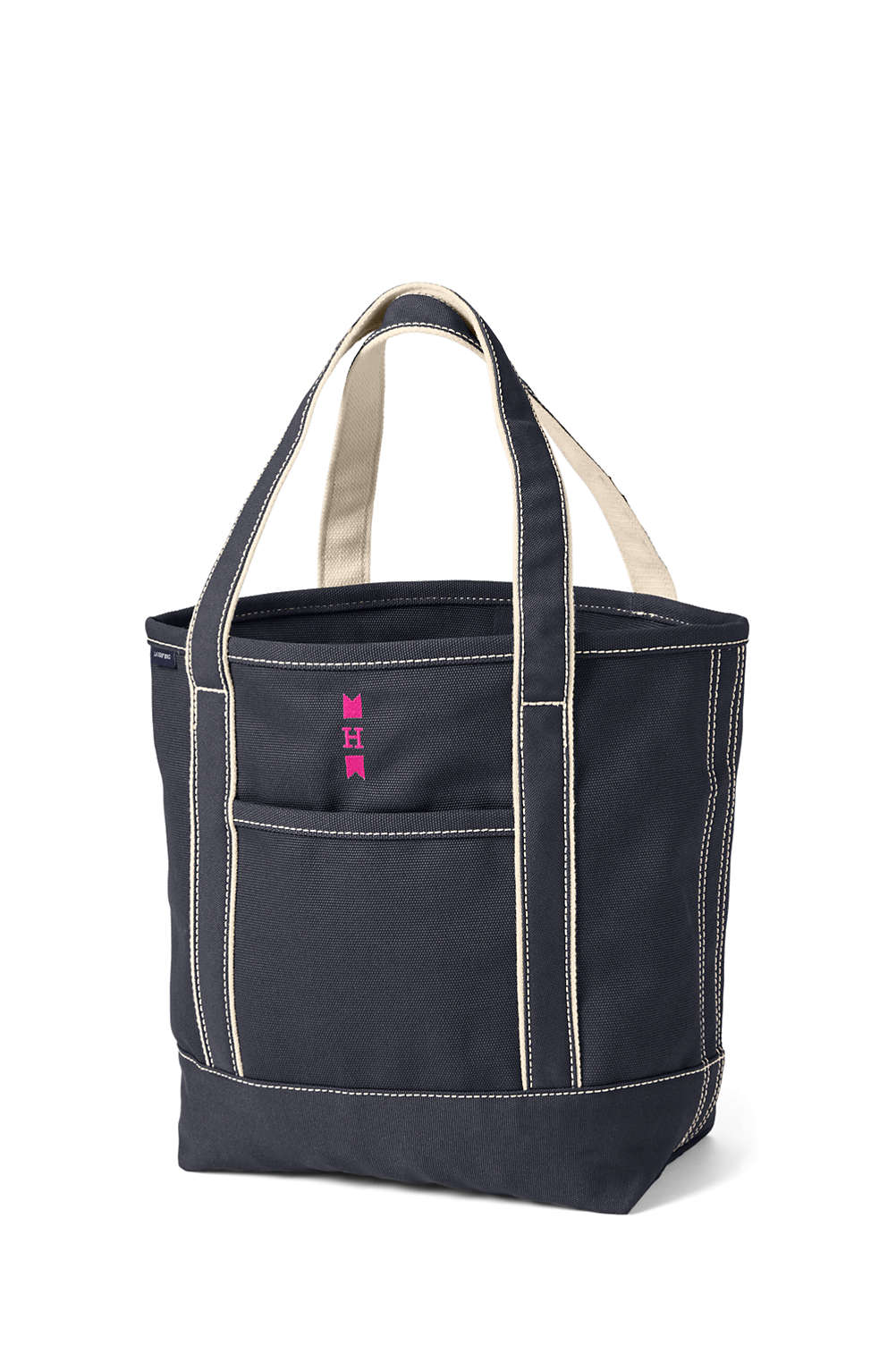 06089f20d774 Open or Zip Top Color Canvas Tote Bag from Lands  End