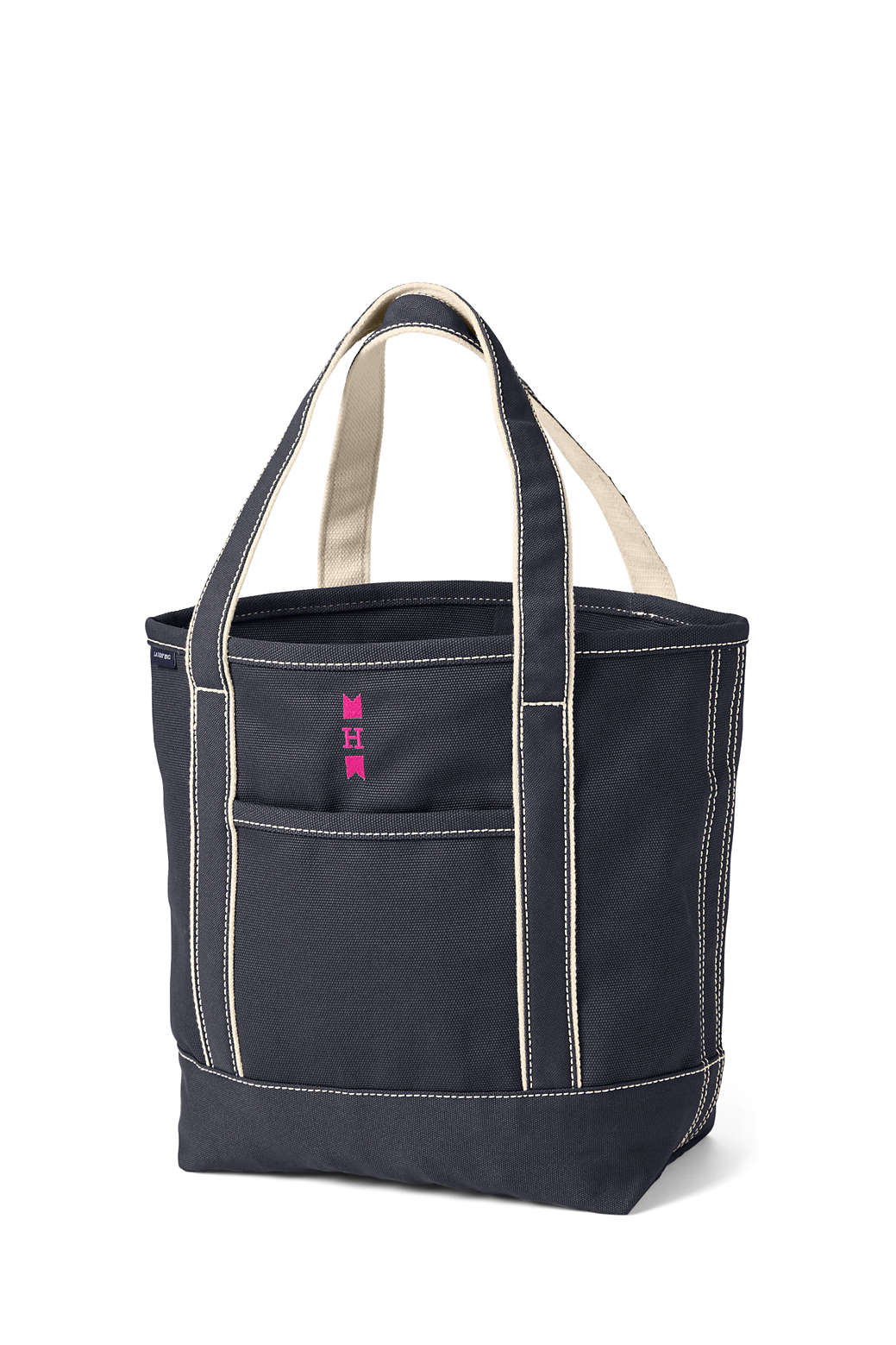 Open or Zip Top Color Canvas Tote Bag from Lands  End 9535bd9eeb
