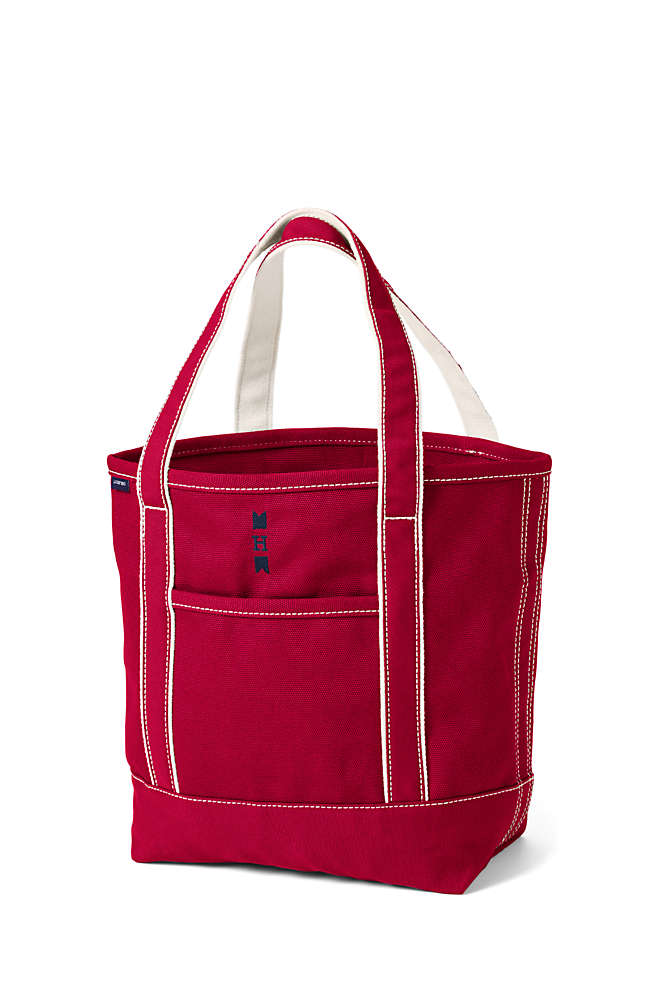 Medium Solid Color Open Top Canvas Tote Bag, Front