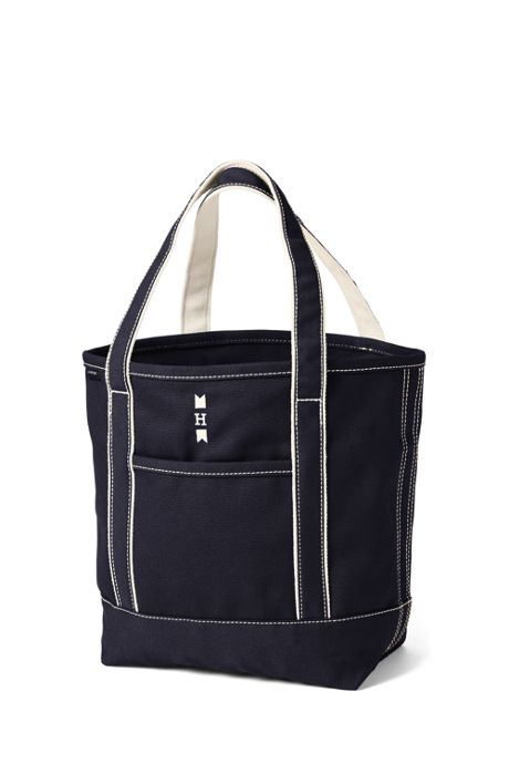 School Uniform Medium Solid Color Open Top Canvas Tote Bag