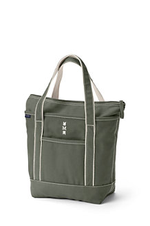 Medium Coloured Zip Top Canvas Tote Bag