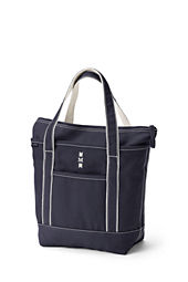 Medium Colored Zip Top Tote Bag
