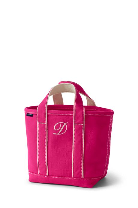 Small Solid Color Open Top Canvas Tote Bag