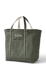 Extra Large Solid Color Open Top Canvas Tote Bag