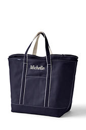 Extra Large Colored Zip Top Tote Bag