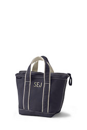 Small Colored Zip Top Tote Bag