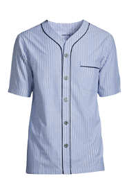 Men's Short Sleeve Broadcloth Pajama Shirt