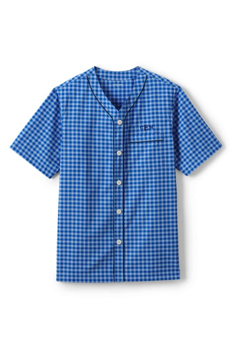 Men's Short Sleeve Broadcloth Pajama Top