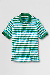 Men's Short Sleeve Stripe Pima Polo Shirt
