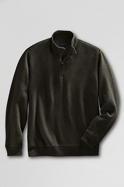 Winter Rib Knit Half-zip Pullover: Dark Olive Heather