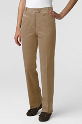 Women's Petite Pre-hemmed Traditional Fit 21-wale Corduroy 7-Day Trousers