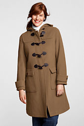 Women's Plus Size Wool Duffle Coat