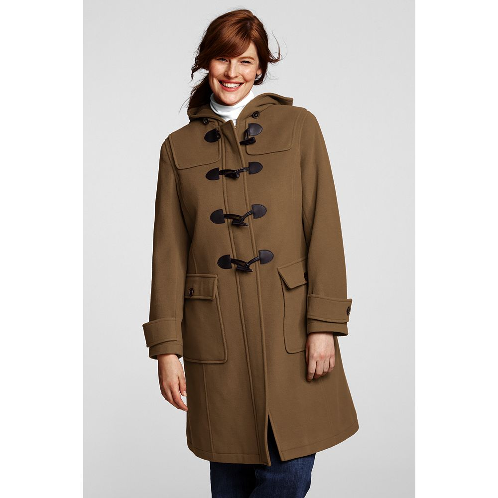 Lands' End Women's Plus Size Wool Duffle Coat at Sears.com
