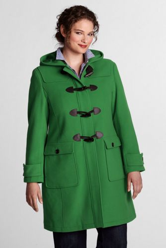 Women's Plus Luxe Wool Blend Duffle Coat