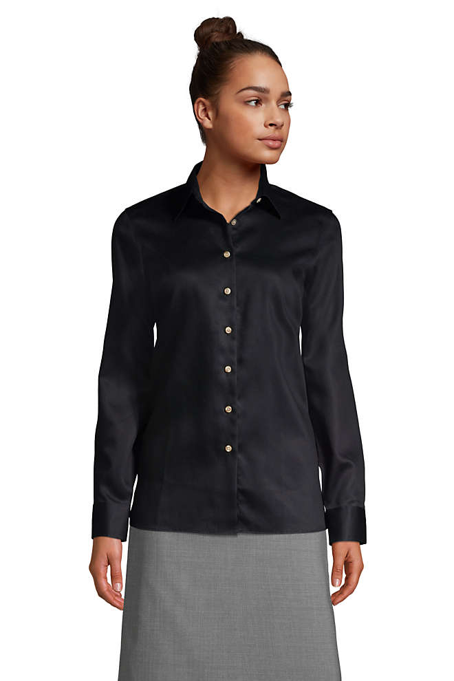 Women's Long Sleeve Performance Twill Shirt, Front