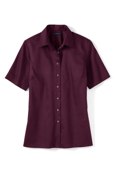 Women's Plus Size Short Sleeve Performance Twill Shirt
