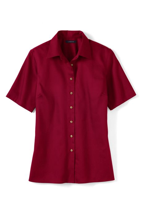 School Uniform Women's Plus Size Short Sleeve Performance Twill Shirt