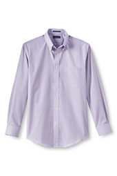 Men's Long Sleeve Pattern No Iron Pinpoint Buttondown Dress Shirt