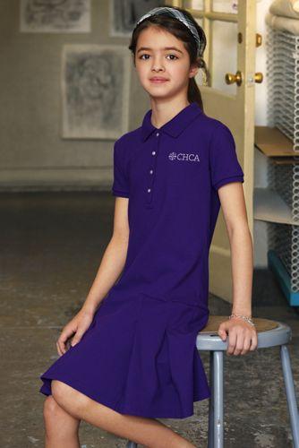 Toddler Girls Short Sleeve Mesh Polo Dress