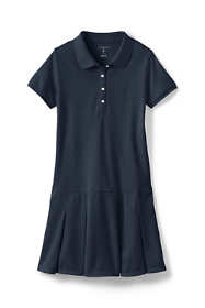 School Uniform Girls Short Sleeve Mesh Polo Dress