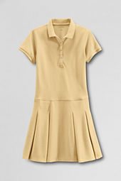 Girls' Short Sleeve Mesh Polo Dress