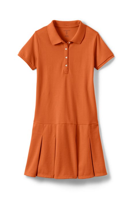 Girls Short Sleeve Mesh Polo Dress