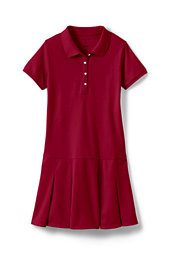 School Uniform Girls' Short Sleeve Mesh Polo Dress