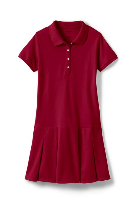 School Uniform Toddler Girls Short Sleeve Mesh Polo Dress