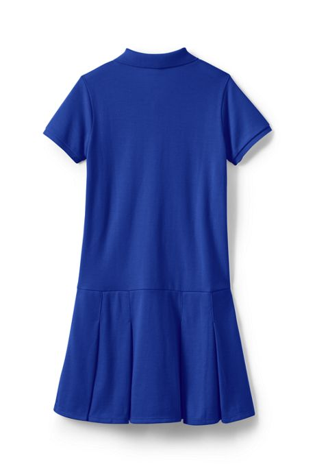 Little Girls Short Sleeve Mesh Polo Dress