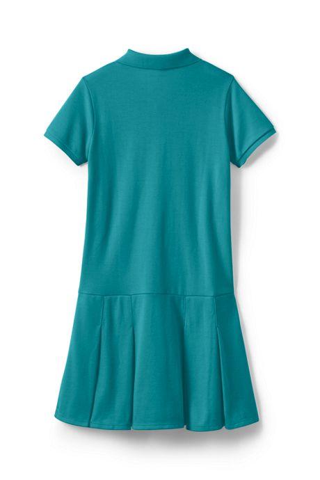 School Uniform Toddler Girls Short Sleeve Mesh Polo Dress