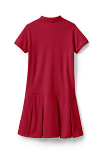 Girls Plus Short Sleeve Mesh Polo Dress, Back