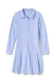 School Uniform Girls Long Sleeve Mesh Polo Dress