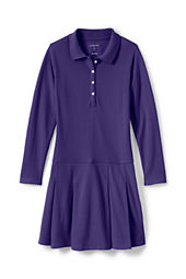 Little Girls' Long Sleeve Mesh Polo Dress