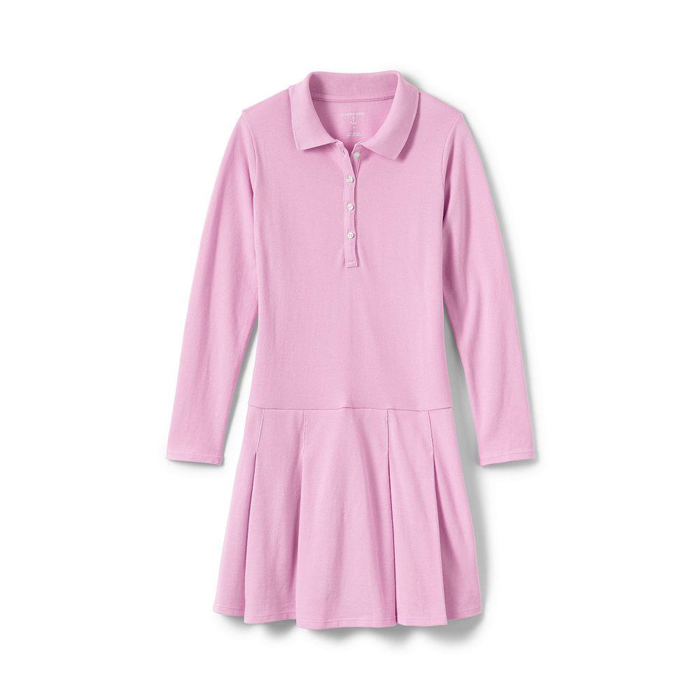 Lands' End School Uniform Little Girls' Long Sleeve Mesh Polo Dress at Sears.com