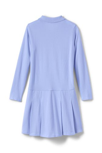 Little Girls Long Sleeve Mesh Polo Dress