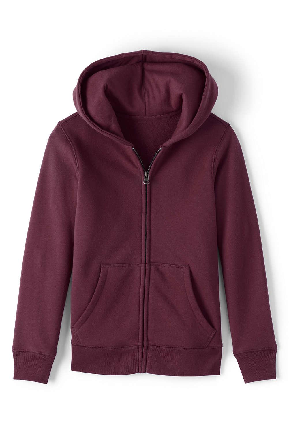2d420a4cd7e6 School Uniform Girls Zip-front Sweatshirt from Lands  End