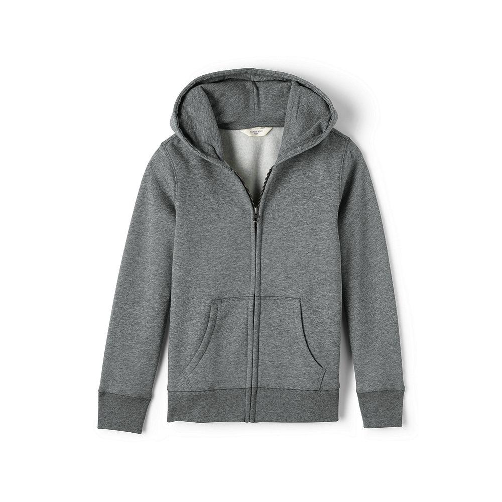 Lands' End School Uniform Little Girls' Hooded Zip-front Sweatshirt at Sears.com